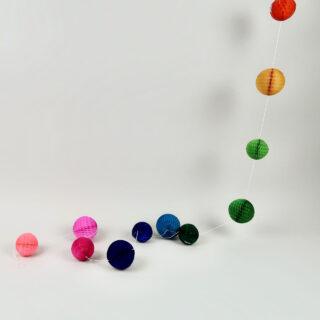 Honeycomb Ball Garland - 2m - Rainbow Bright