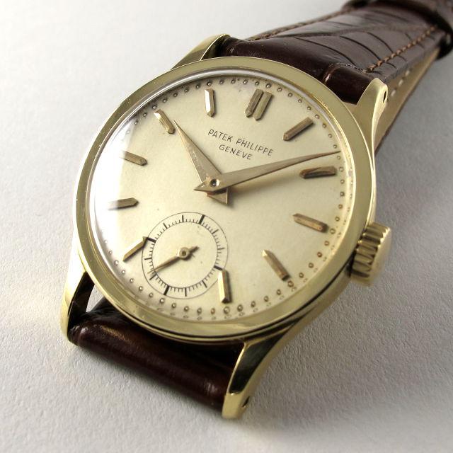 5866ac4a38dd Home Watches Sold Watches Gold Patek Philippe Calatrava Ref. 96 vintage  wristwatch