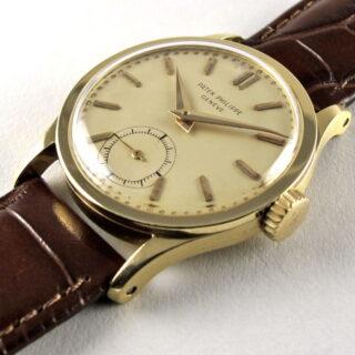 2fe952b31ae3 Gold Patek Philippe Calatrava Ref. 96 vintage wristwatch ...