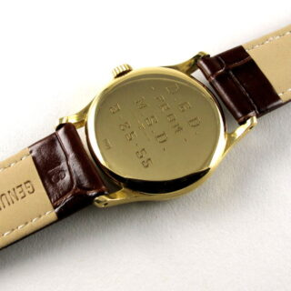 Gold Patek Philippe Calatrava Ref. 96 vintage wristwatch, made in 1953