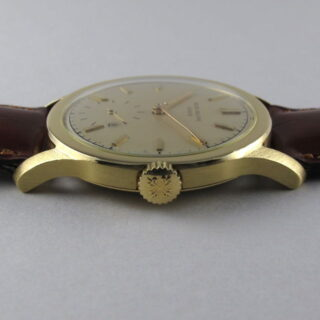 Gold Patek Philippe Ref. 2449 vintage wristwatch, made in 1954 & sold in 1955