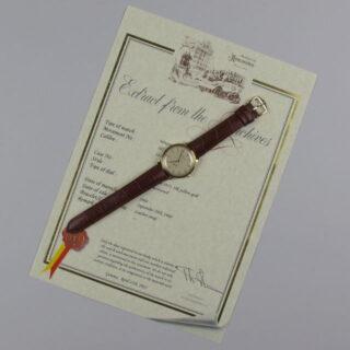 Gold Patek Philippe Ref. 3415 vintage wristwatch, made in 1960