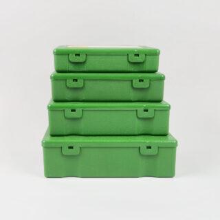 penco storage boxes green