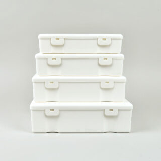 penco storage boxes white