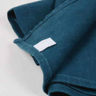Petrol Blue 100% Linen Napkins - handmade in Ludlow