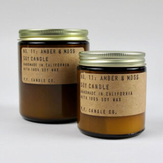 Amber & Moss Scented Candle - Small