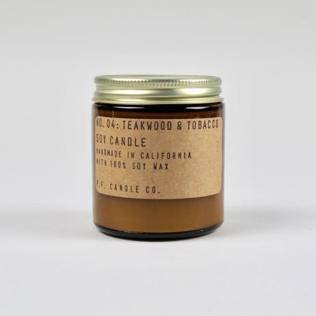 Teakwood & Tobacco Scented Candle - Small
