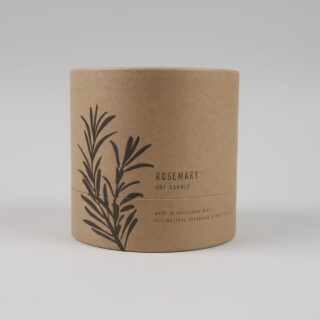 Large Rosemary Soy Candle in Terracotta Pot