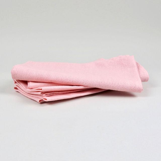 Pink 100% Linen Napkin - Handmade in Ludlow