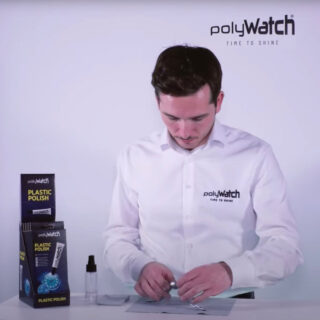 PolyWatch plastic polish for synthetic watch crystals