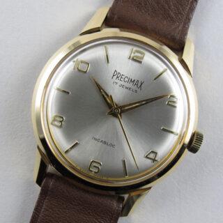 Precimax gold plated vintage wristwatch, circa 1965
