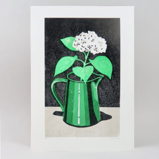 Hydrangea Lino Print by James Brown