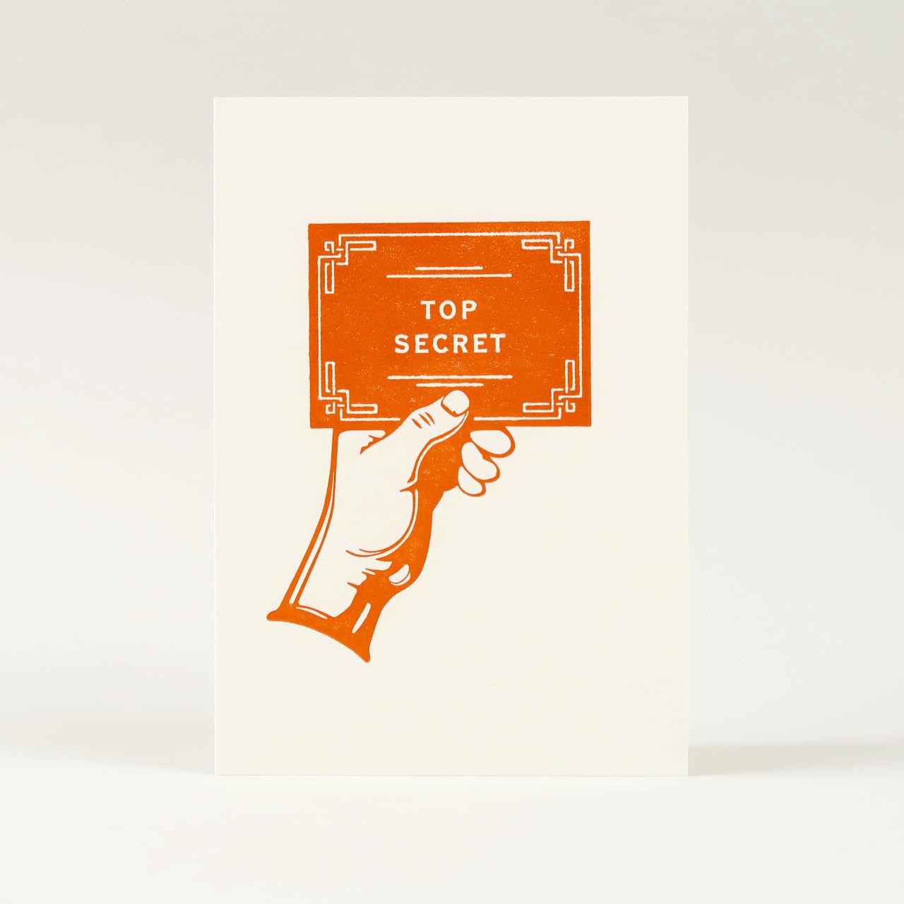 Top Secret Greetings Card