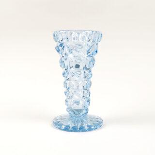 Pale Blue Pressed Glass Vase