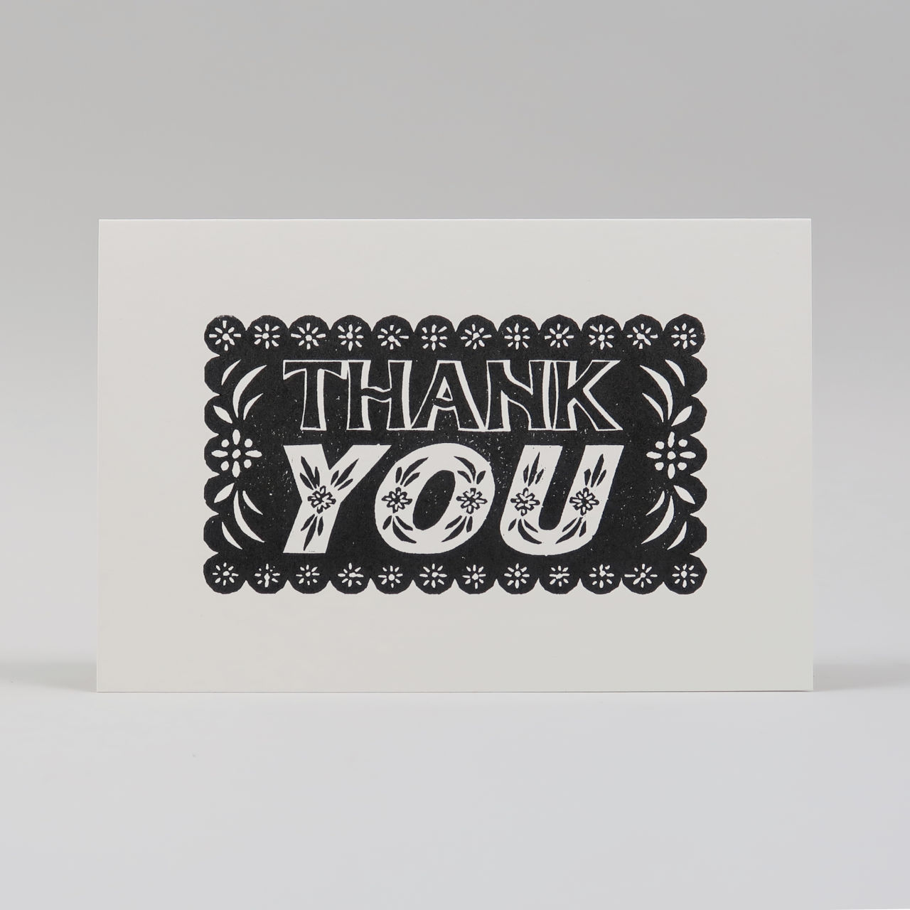Hand Printed Thank You Card