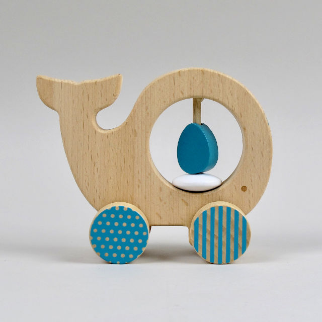 Push Along Wooden Whale