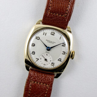 ROC / Zenith retailed by Brown & Son Chester gold vintage wristwatch, hallmarked 1951