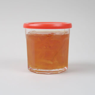 French Glass Jar with Red Plastic Lid - Pack of 6