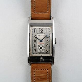 Revue Thommen cal.70 circa 1945   steel rectangular wristwatch