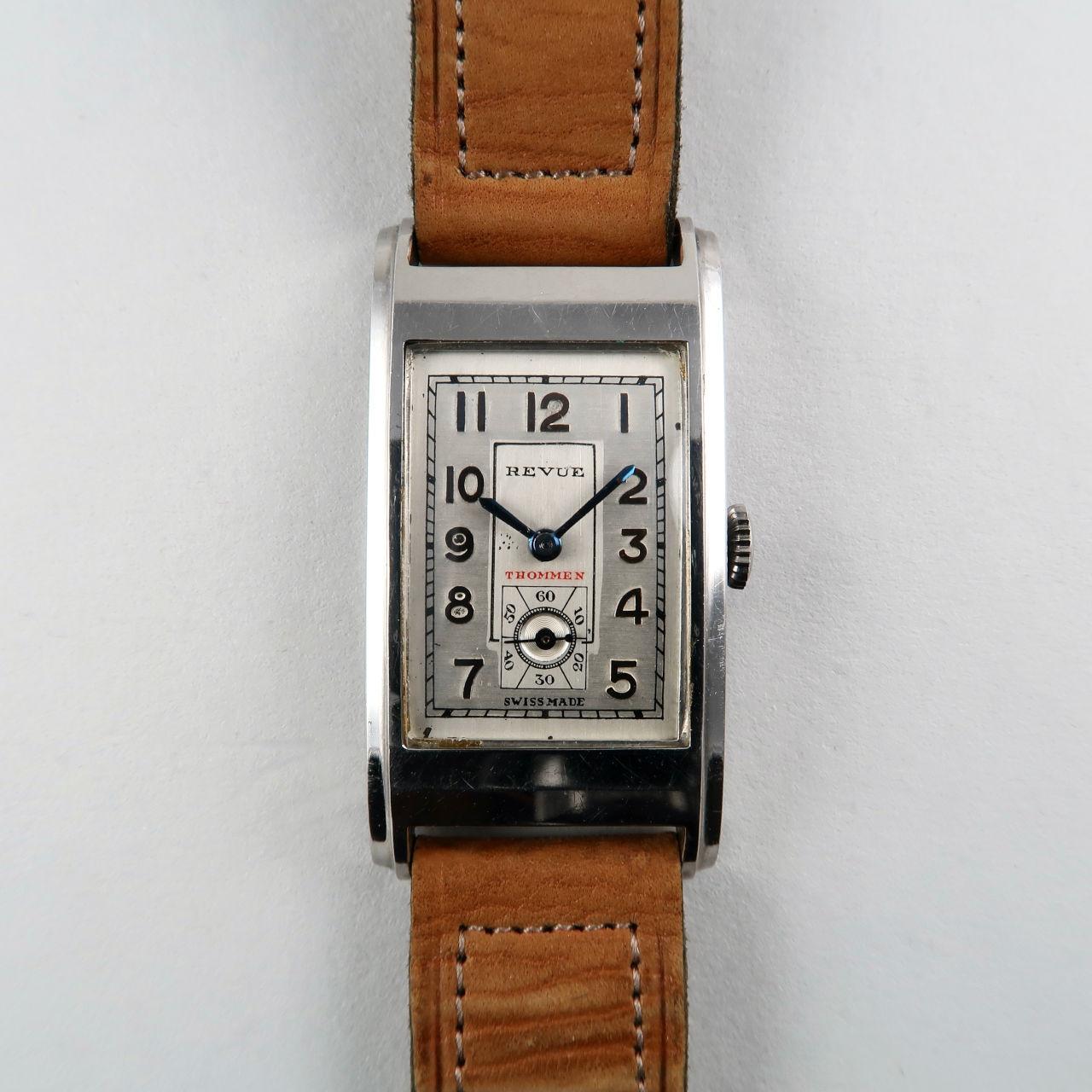 Revue Thommen cal.70 circa 1945 | steel rectangular wristwatch