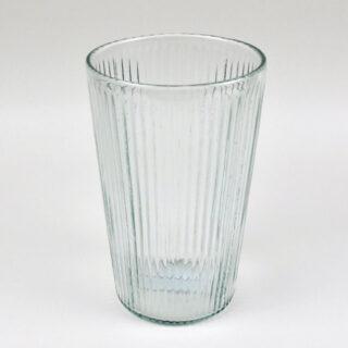 Ribbed Glass Vase