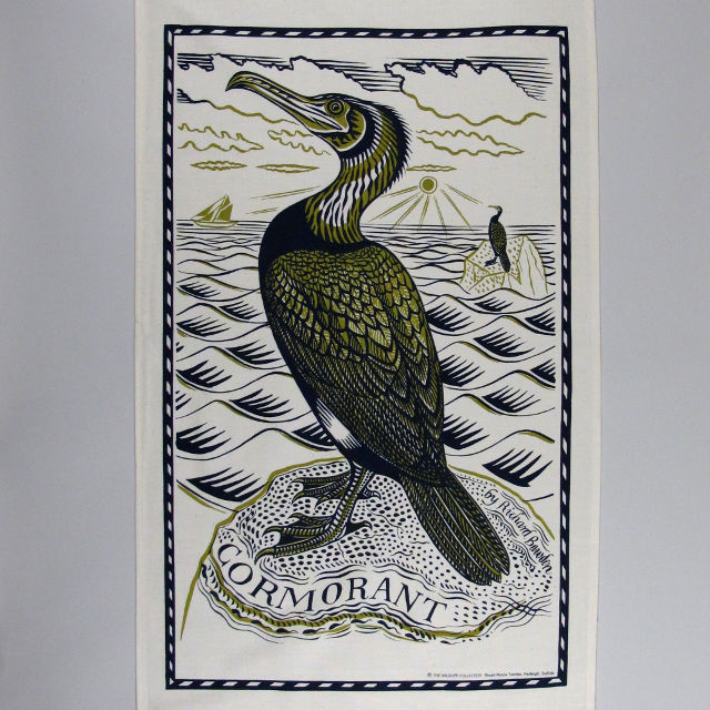Richard Bawden Tea Towel - Cormorant