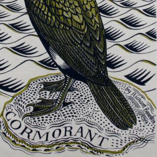 Richard Bawden Tea Towel - Cormorant