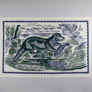 Richard Bawden Tea Towel - Otter