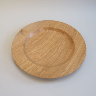 Hand Turned Ripple Ash Large Platter by Nigel Sturgeon