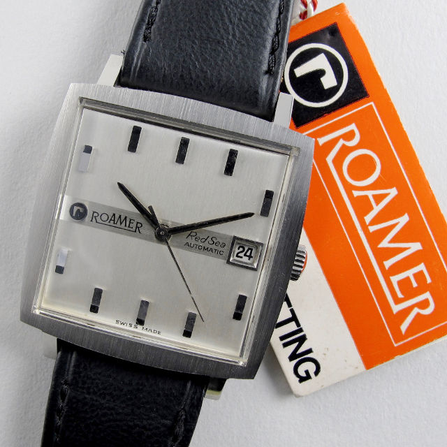 Roamer Red Sea steel vintage wristwatch, circa 1967