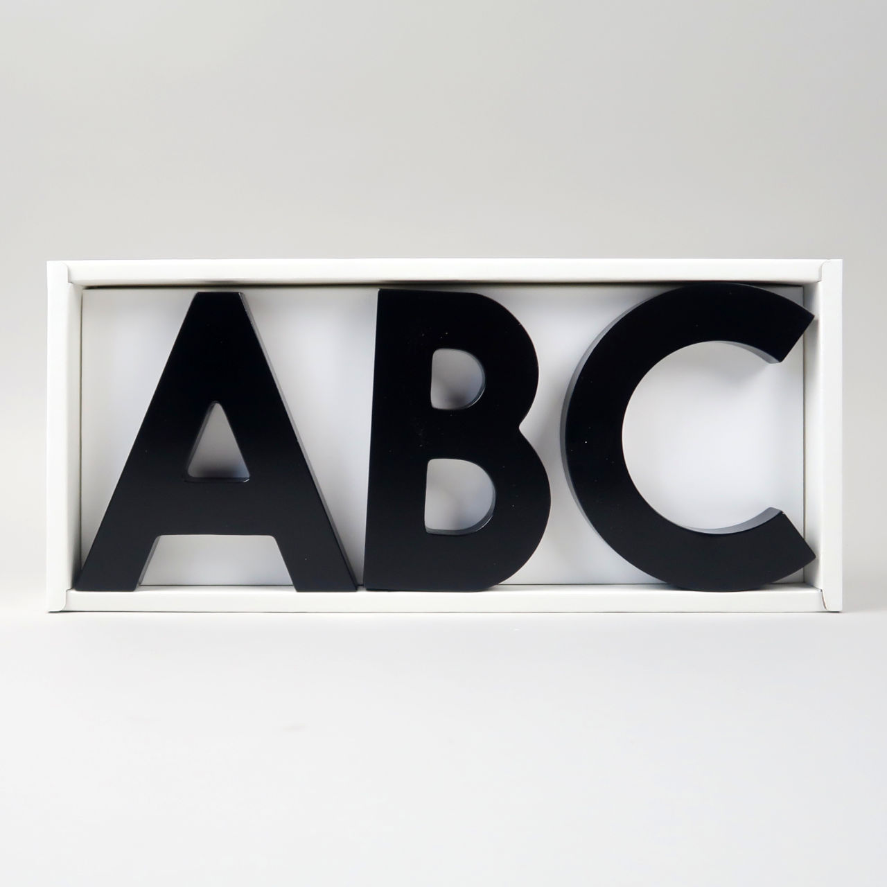 Alphabet Soup Wall Hooks - ABC - Black
