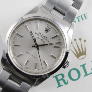 """Rolex Oyster Perpetual Air-King Precision Ref. 14000M """"Full Set"""" steel wristwatch, sold in 2002"""