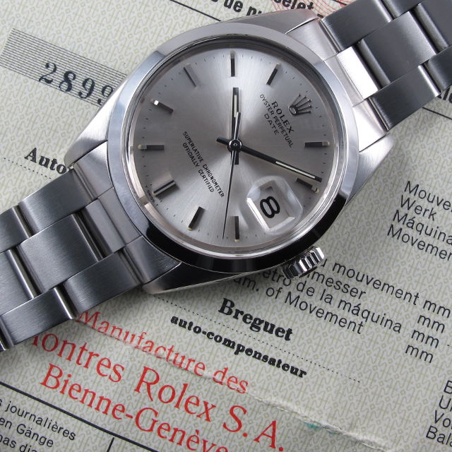 f22a6572962 Steel Rolex Oyster Perpetual Date Chronometer Ref. 1500 vintage ...