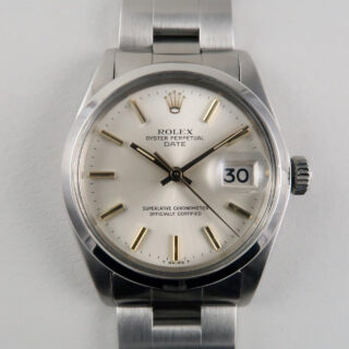 Rolex Oyster Perpetual Date Ref.1500 steel vintage wristwatch, circa 1974