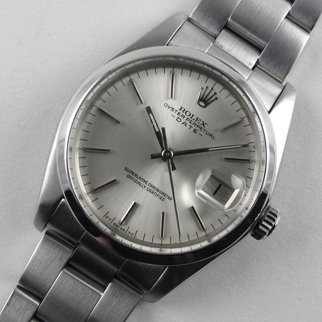 ce3810ec232 Home Watches Sold Watches Steel Rolex Oyster Perpetual Date Ref. 1500  vintage wristwatch, circa 1977