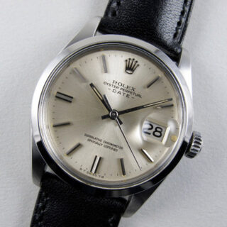 Rolex Oyster Perpetual Date Ref. 1500 steel vintage wristwatch, dated 1972