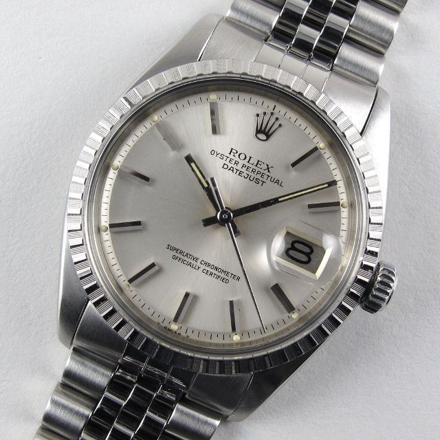 Rolex Oyster Perpetual Datejust Black Face Two Tone
