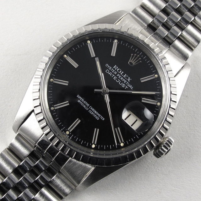 7a7a5a971f6b Home Watches Sold Watches Steel Rolex Oyster Perpetual Datejust Chronometer  Ref. 16030 vintage wristwatch