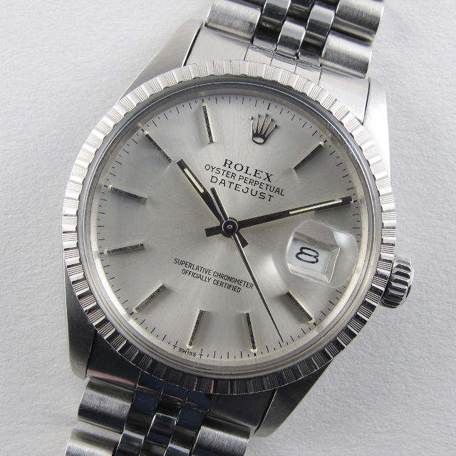 Rolex Oyster Perpetual Datejust Chronometer Ref. 16030 steel vintage wristwatch, circa 1985