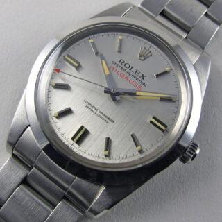 Steel Rolex Oyster Perpetual Milgauss Chronometer Ref. 1019 vintage wristwatch, dated 1970