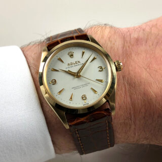 Rolex Oyster Perpetual Ref.1003 Chronometer 'Full Set' 9ct gold vintage wristwatch, sold in 1964