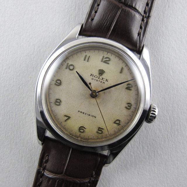 Rolex Oyster Precision Ref. 6022 steel vintage wristwatch, circa 1951