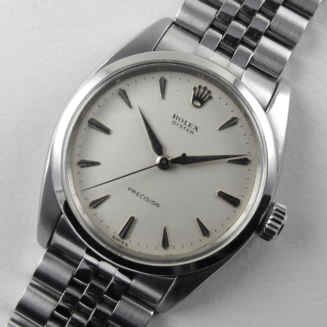 steel rolex oyster precision ref 6422 vintage wristwatch dated 1957 black bough ludlow. Black Bedroom Furniture Sets. Home Design Ideas