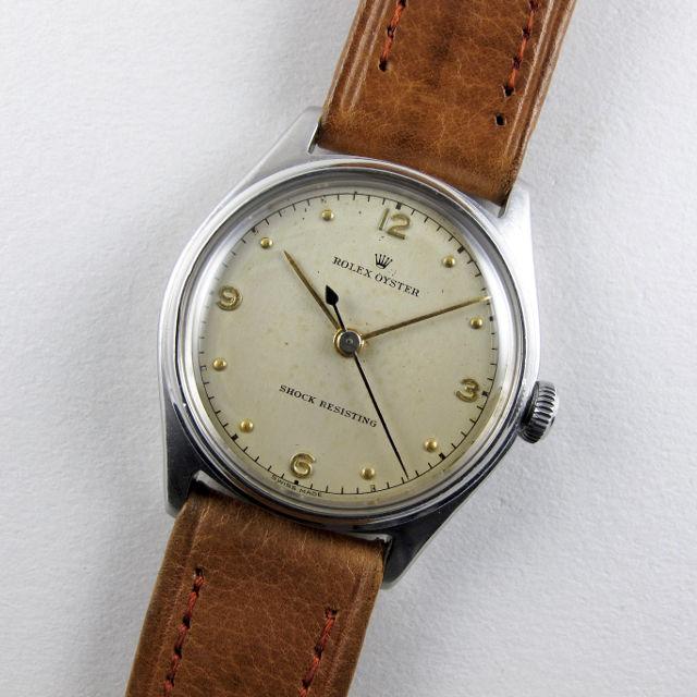 Rolex Oyster Ref. 4444 steel vintage wristwatch, circa 1945