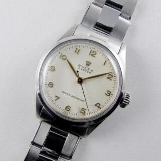 Rolex Oyster Ref. 6246 steel vintage wristwatch, dated 1955