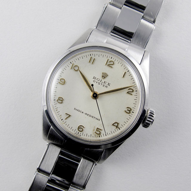 Rolex Oyster Ref. 6246 steel vintage wristwatch, dated 1955