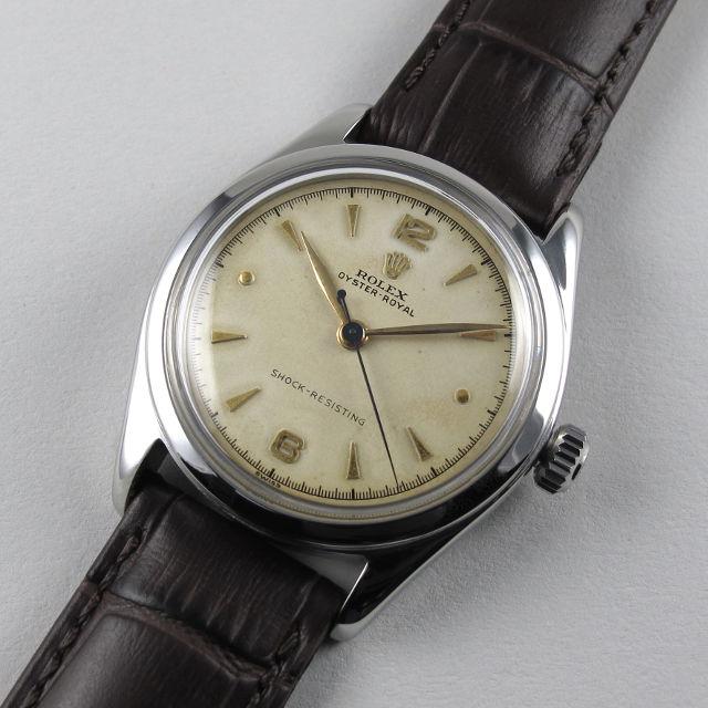 Steel Rolex Oyster Royal Ref  6144 vintage wristwatch, circa