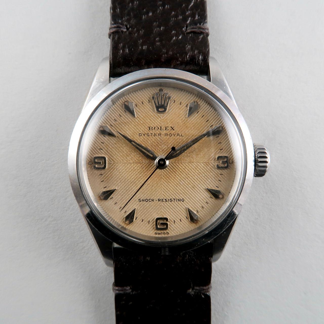 Rolex Oyster Royal Ref. 6246 dated 1957   steel herring-bone sector dial vintage wristwatch