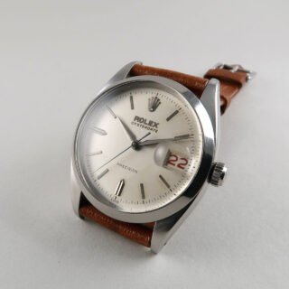 Rolex Oysterdate Ref. 6494 dated 1959 | steel manual vintage wristwatch with roulette date