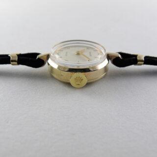 Rolex Precision gold vintage wristwatch, hallmarked 1960